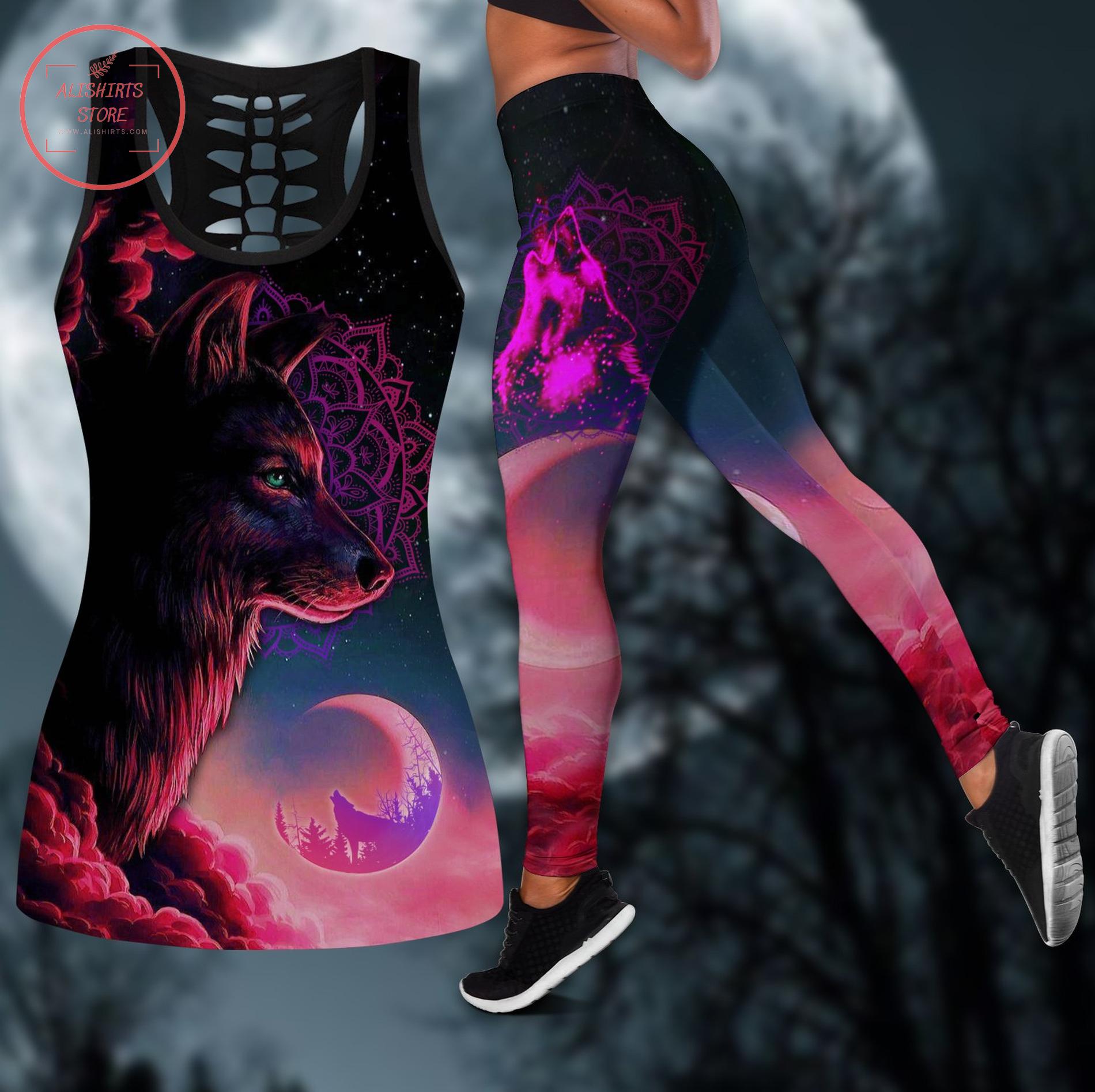 Night wolf leggings & tanktop