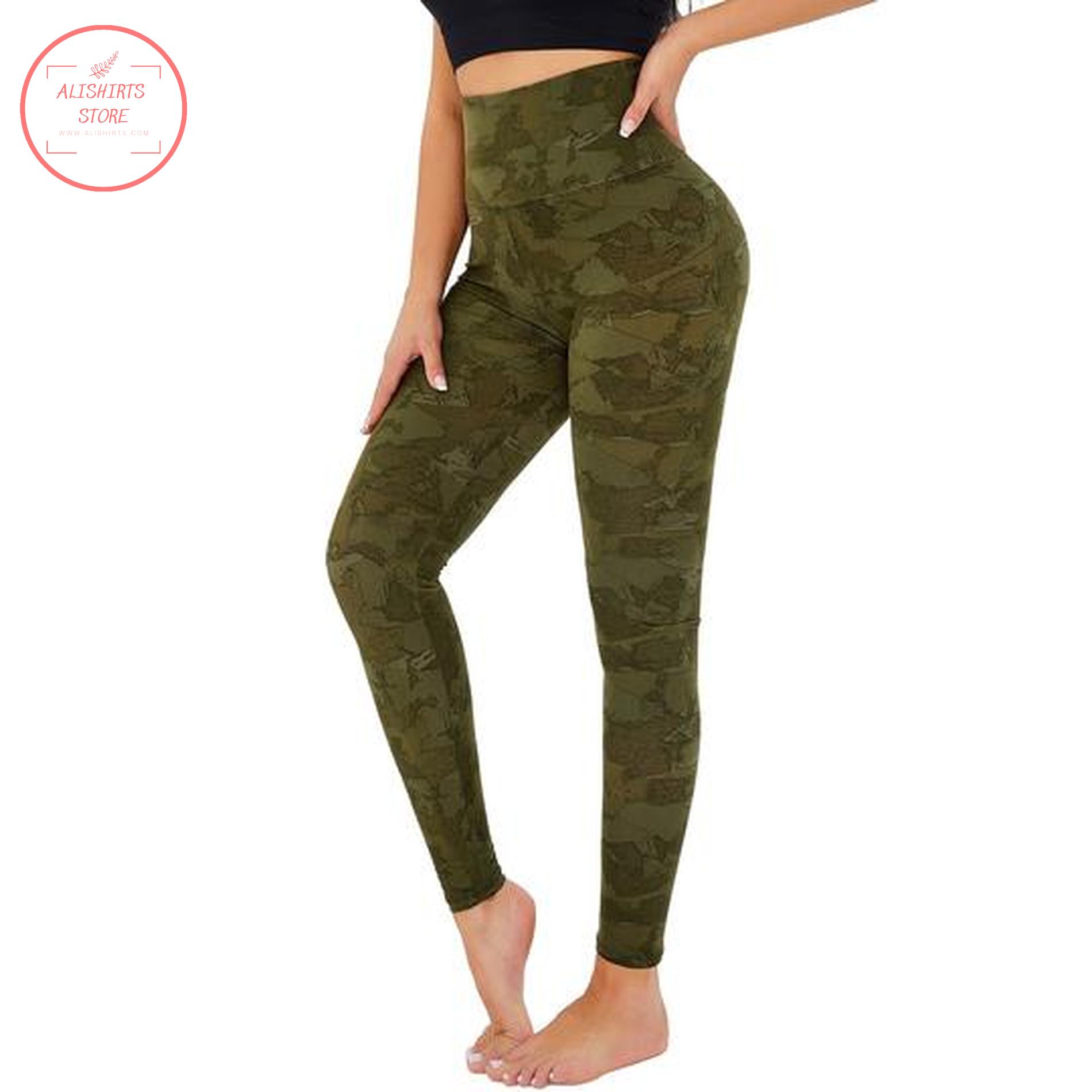 Moss Green Camo Legging
