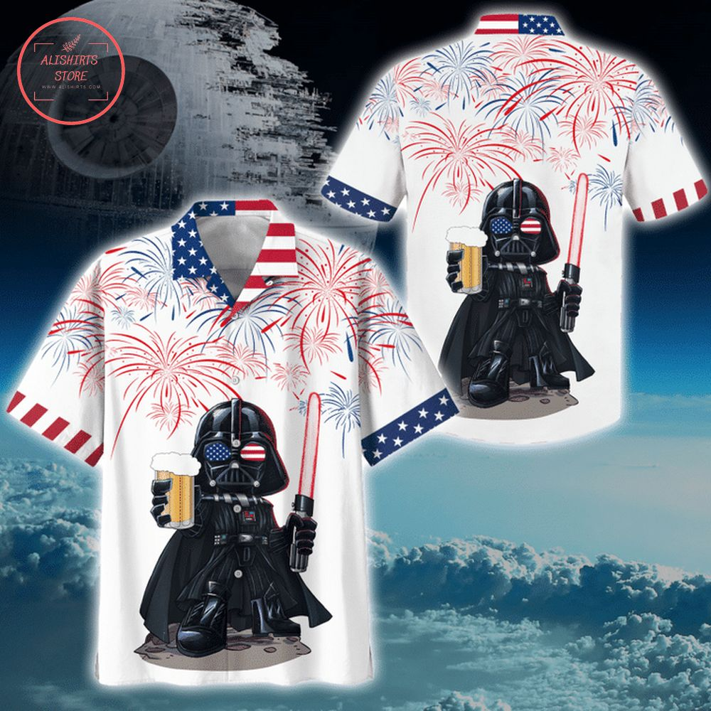 America Darth Vader Star Wars Hawaiian shirt
