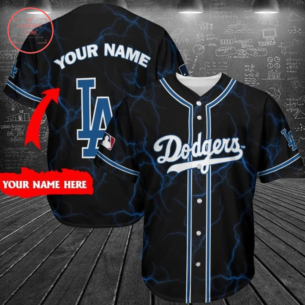 Personalize Dodgers Baseball Jersey