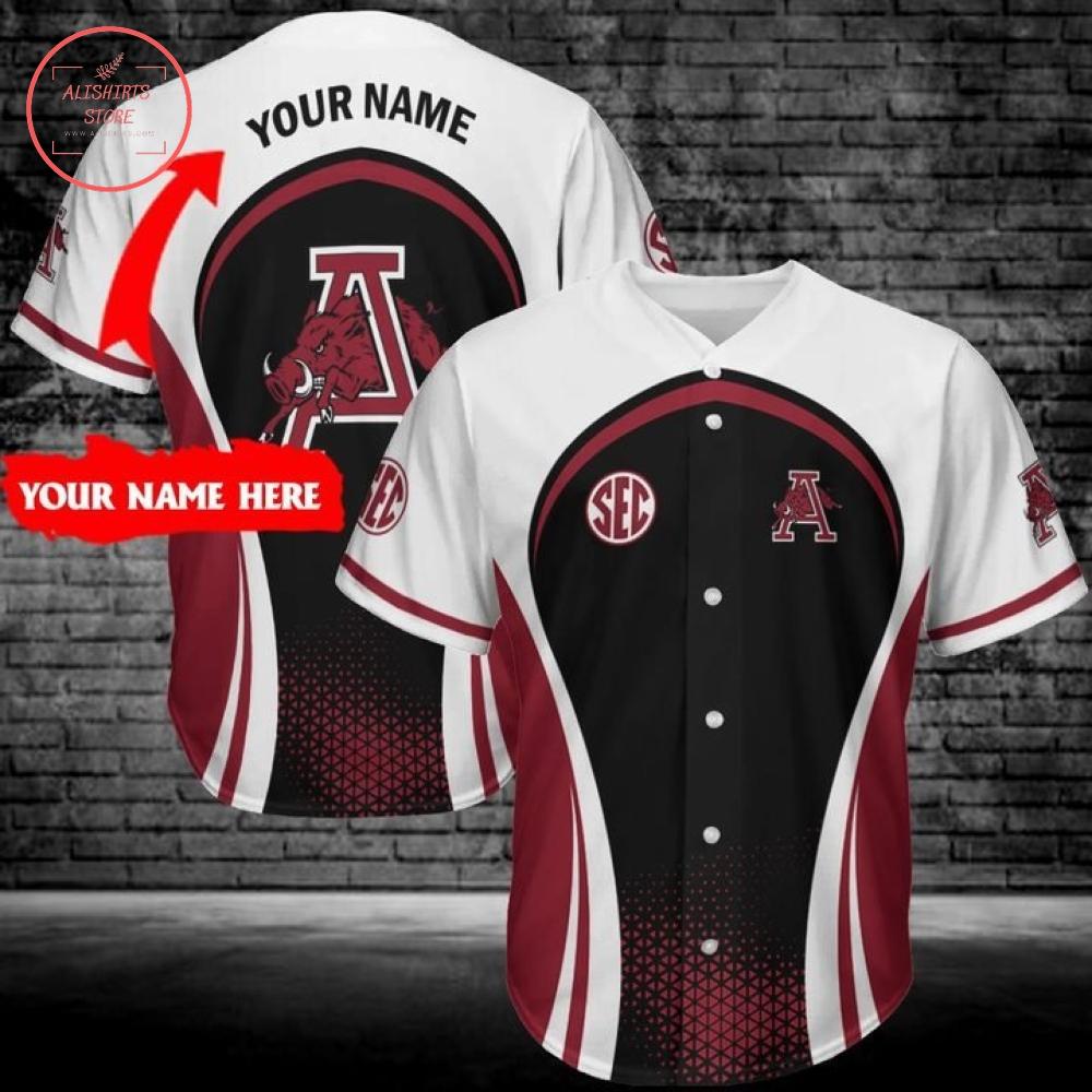 Personalized Arkansas Baseball uniforms