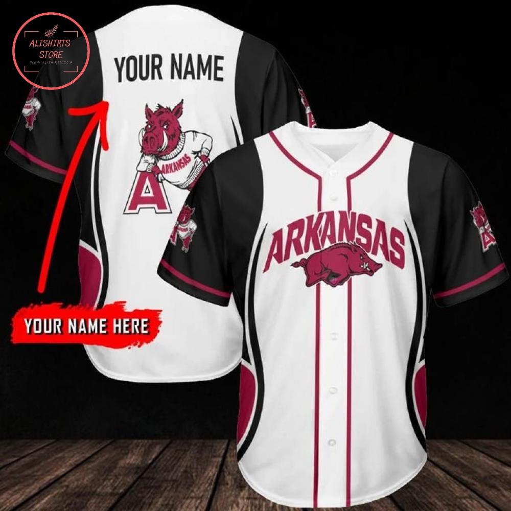 Personalized Razorback baseball uniforms