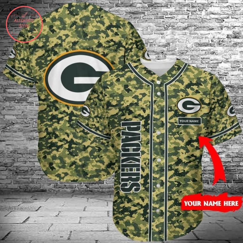 Green Bay Packers Baseball Jersey