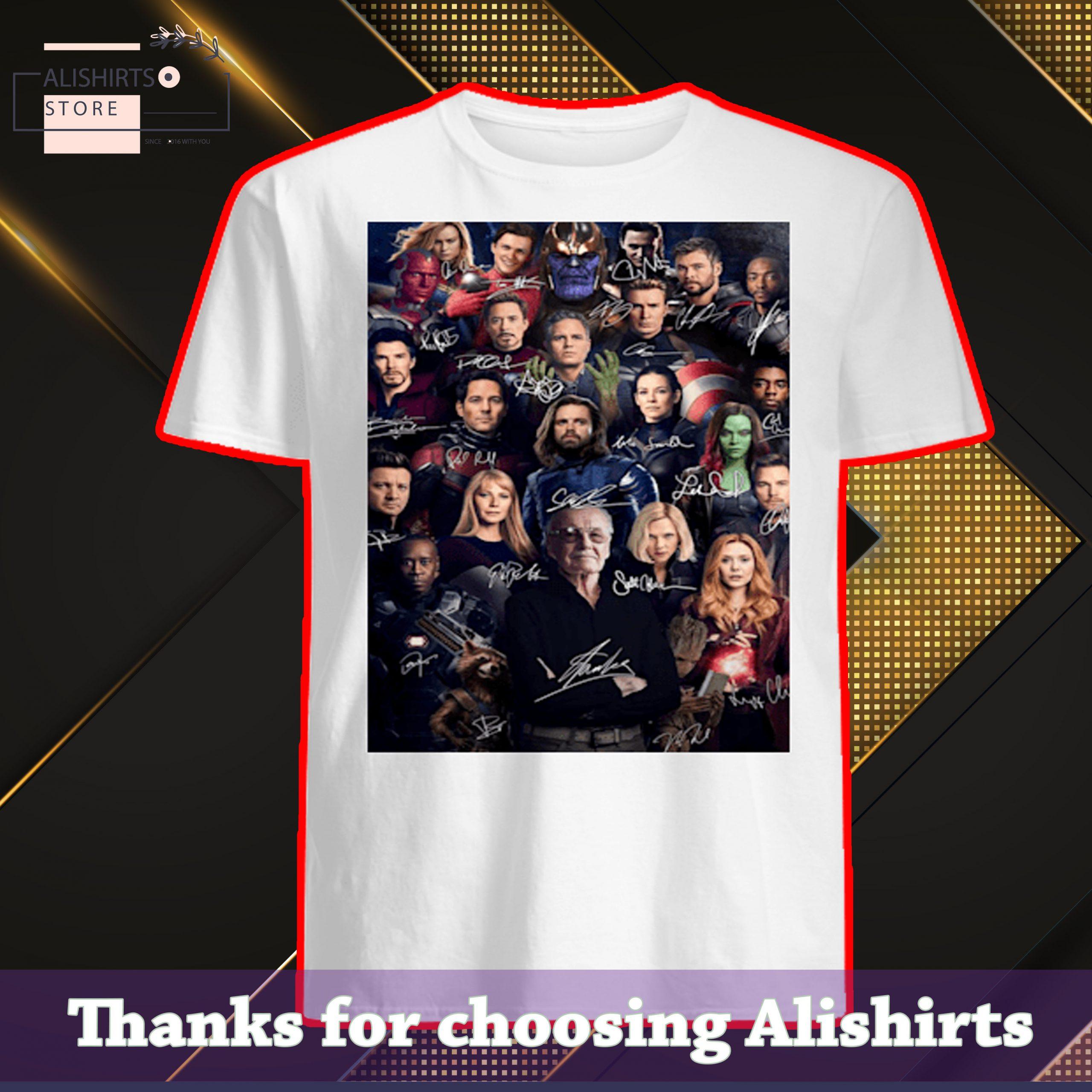 Stan Lee Marvel Superheroes Signatures Shirt, Hoodie, Tank Top