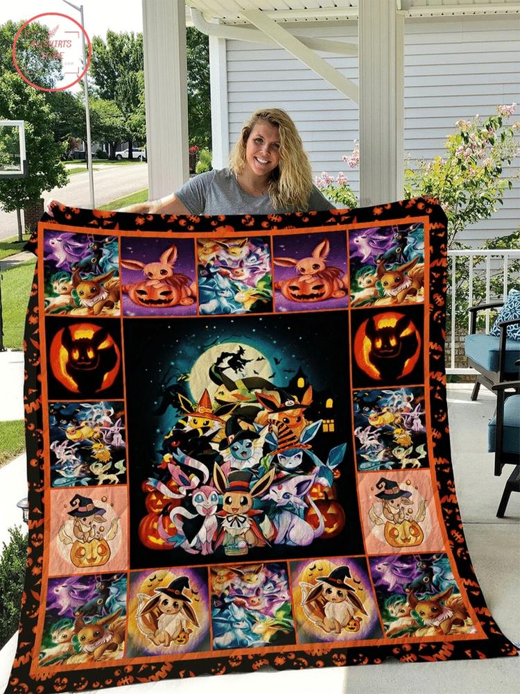 Halloween pokemon blanket & bed set