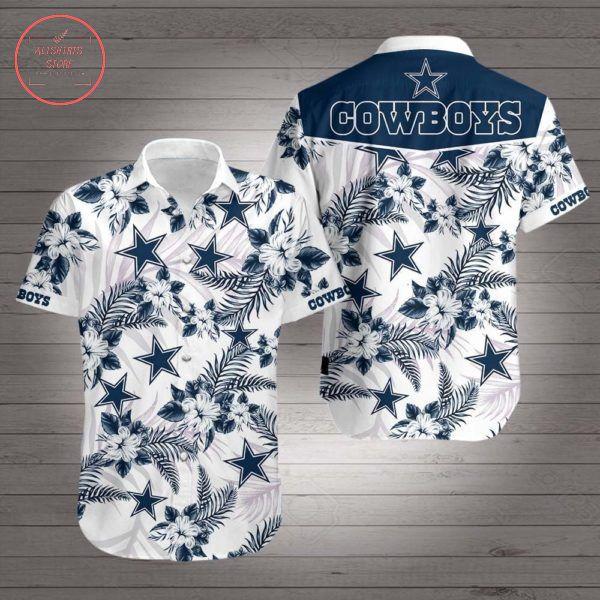 Dallas Cowboys Starflower Hawaiian shirts
