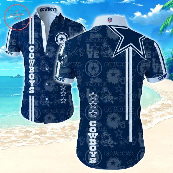 Dallas Cowboys Straight Stripe Hawaiian shirts