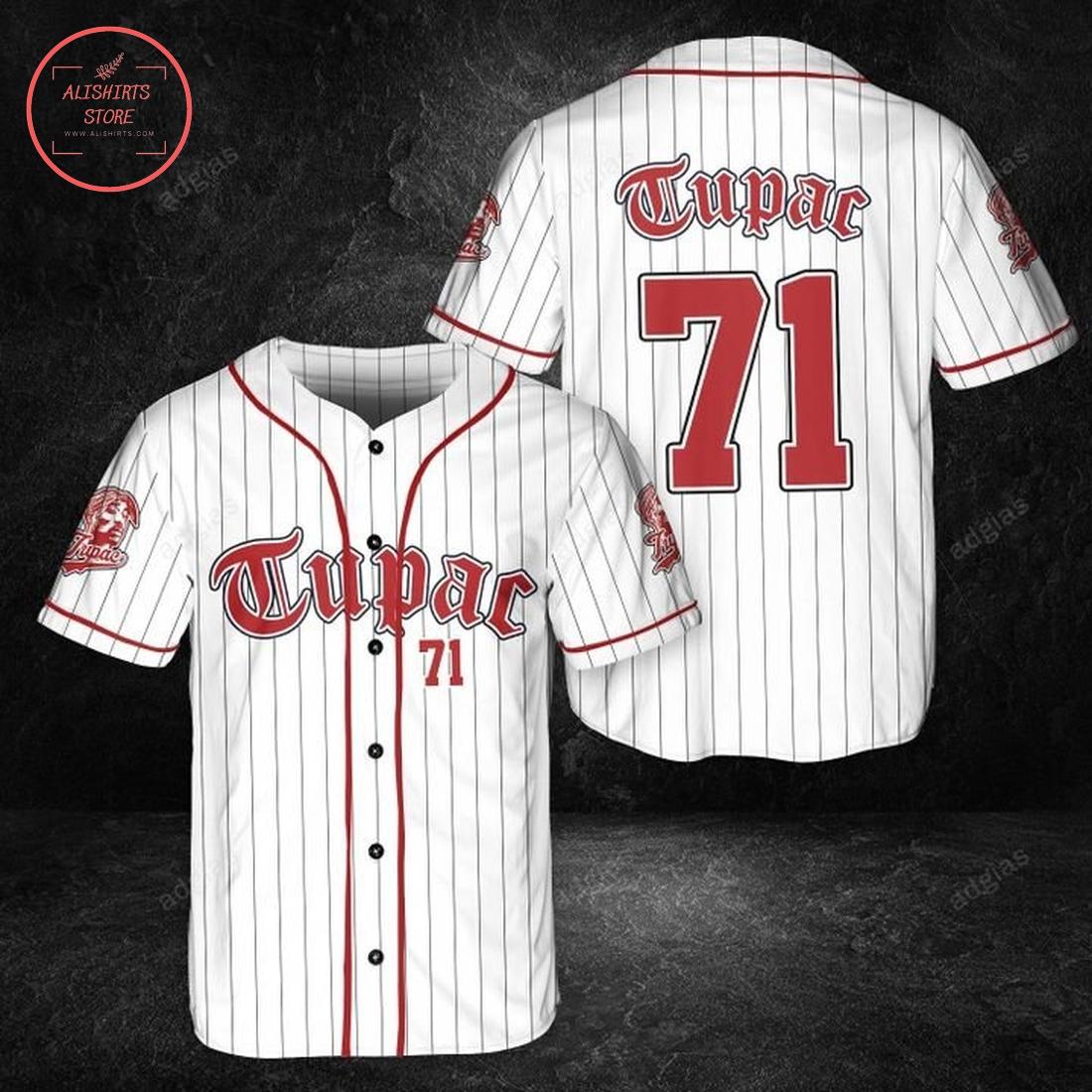 Old school Tupac baseball Jersey