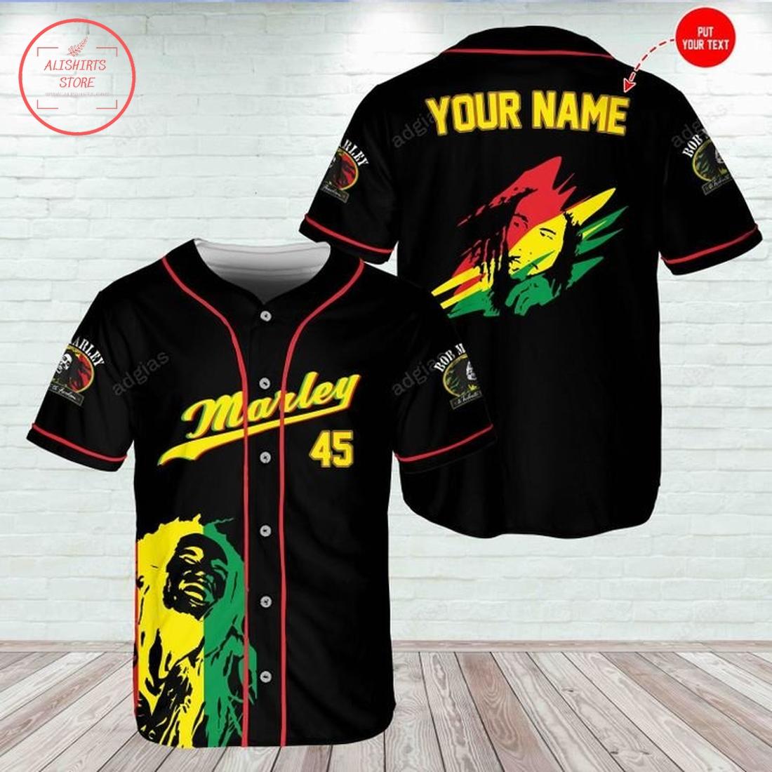 Bob Marley Jamaica baseball Jersey