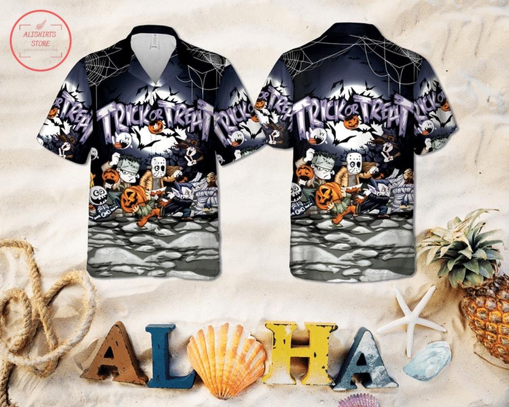 Halloween Trick or Treat Hawaiian Shirt