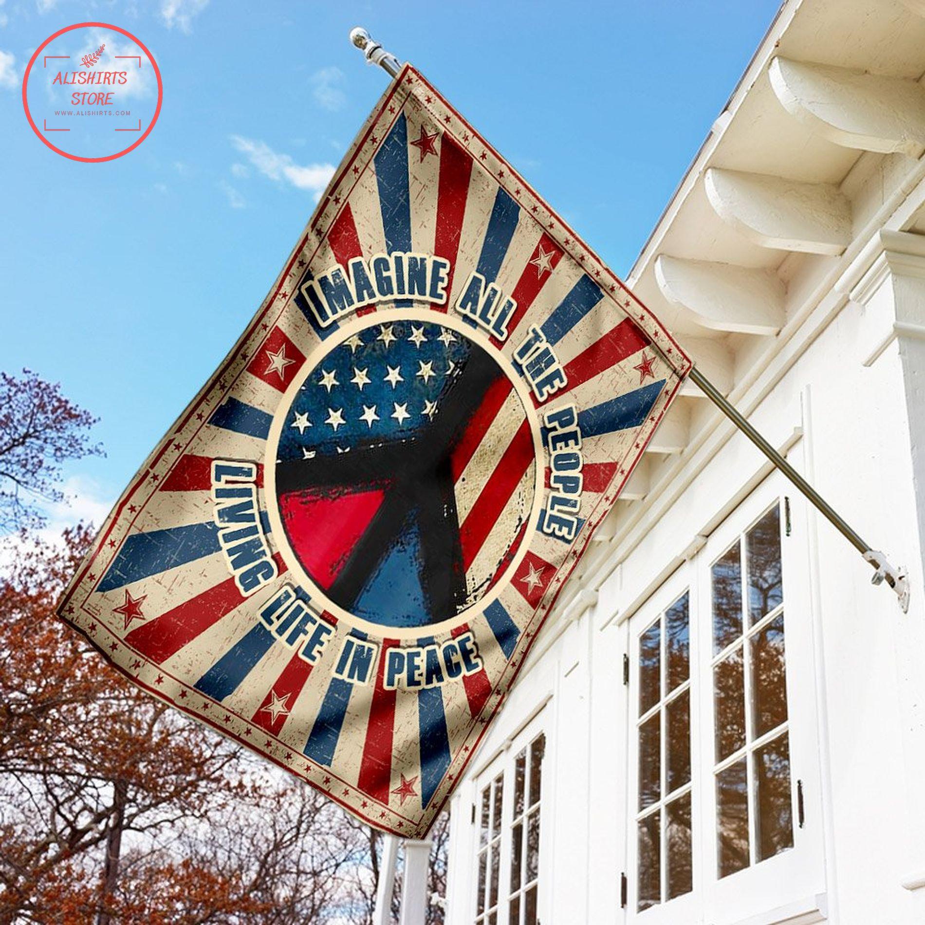 American peace flag