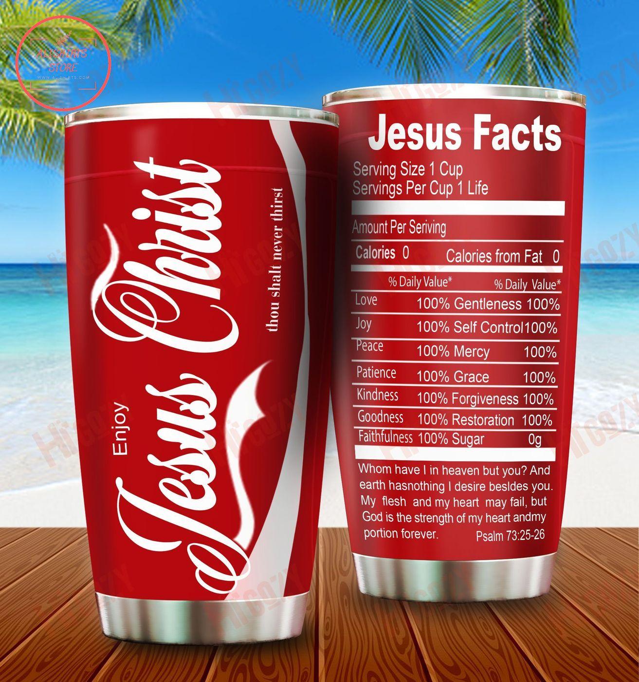Love Jesus Facts Tumbler