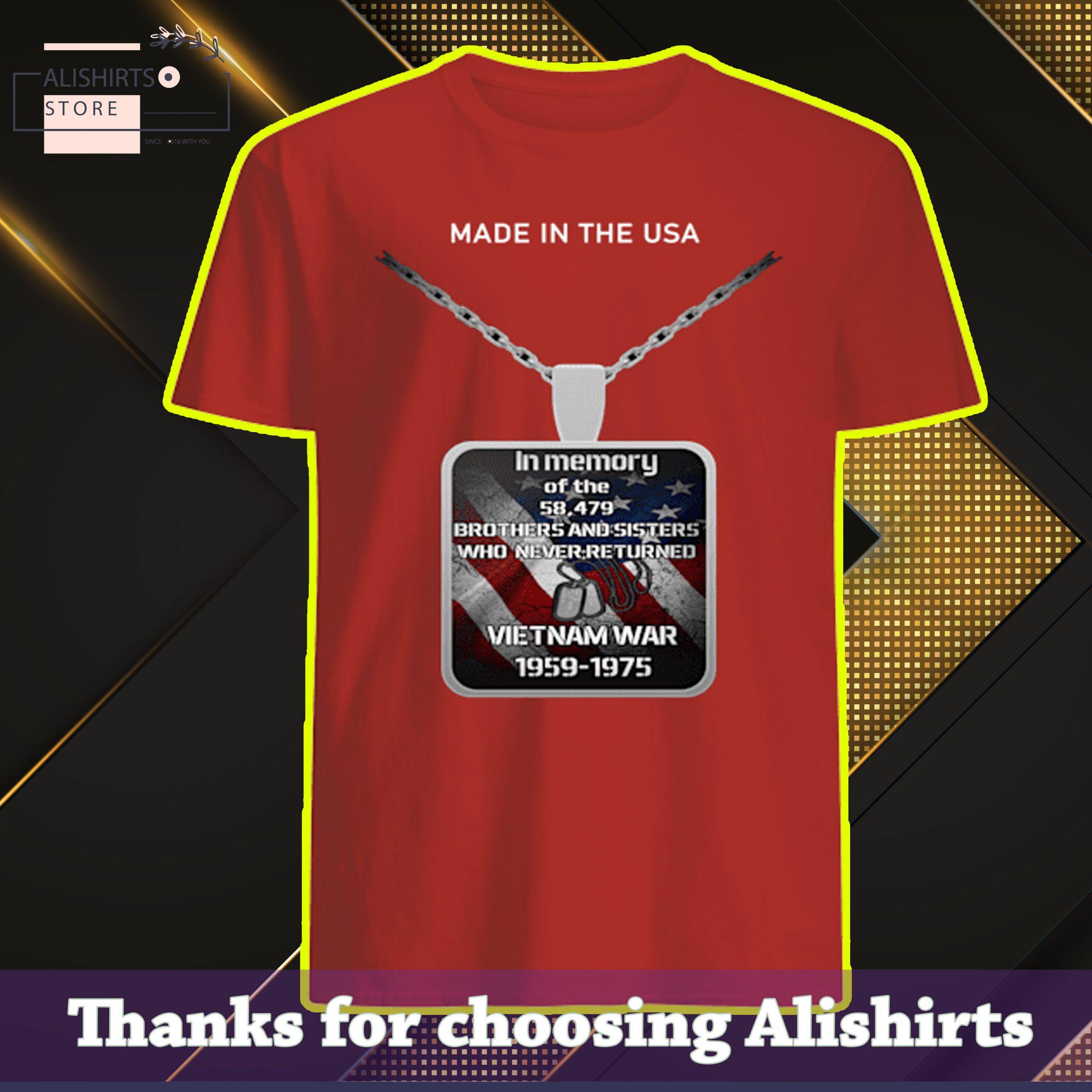 HOT In memory of the Vietnam War 1959 – 1975 Shirt, Hoodie, Tank Top
