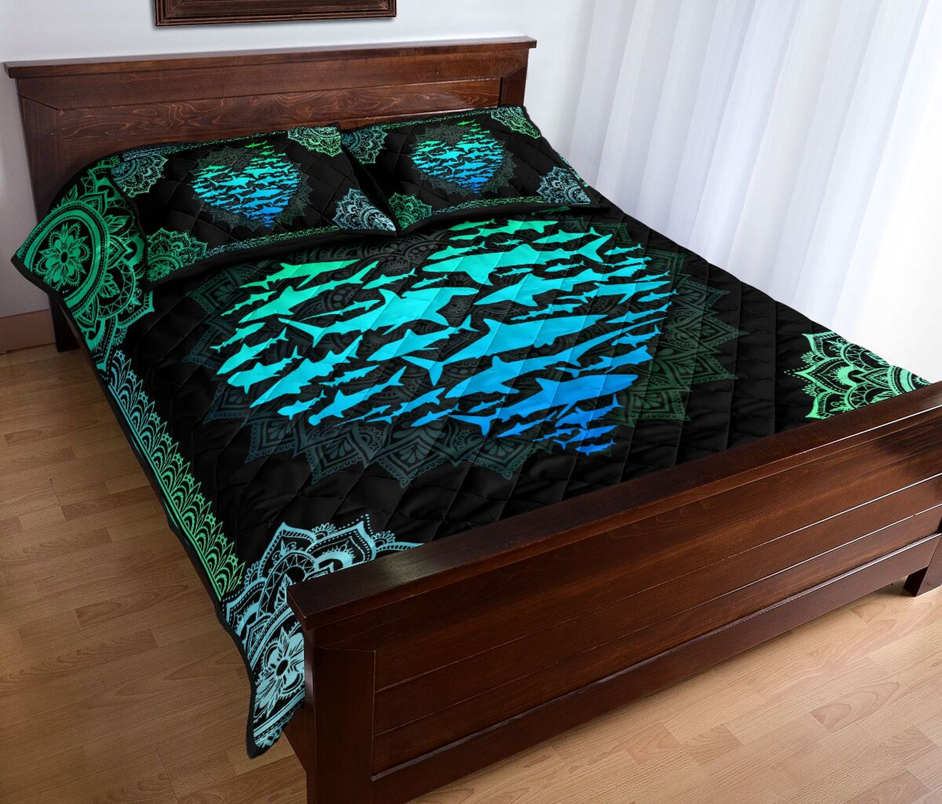 Miami dolphins bed set