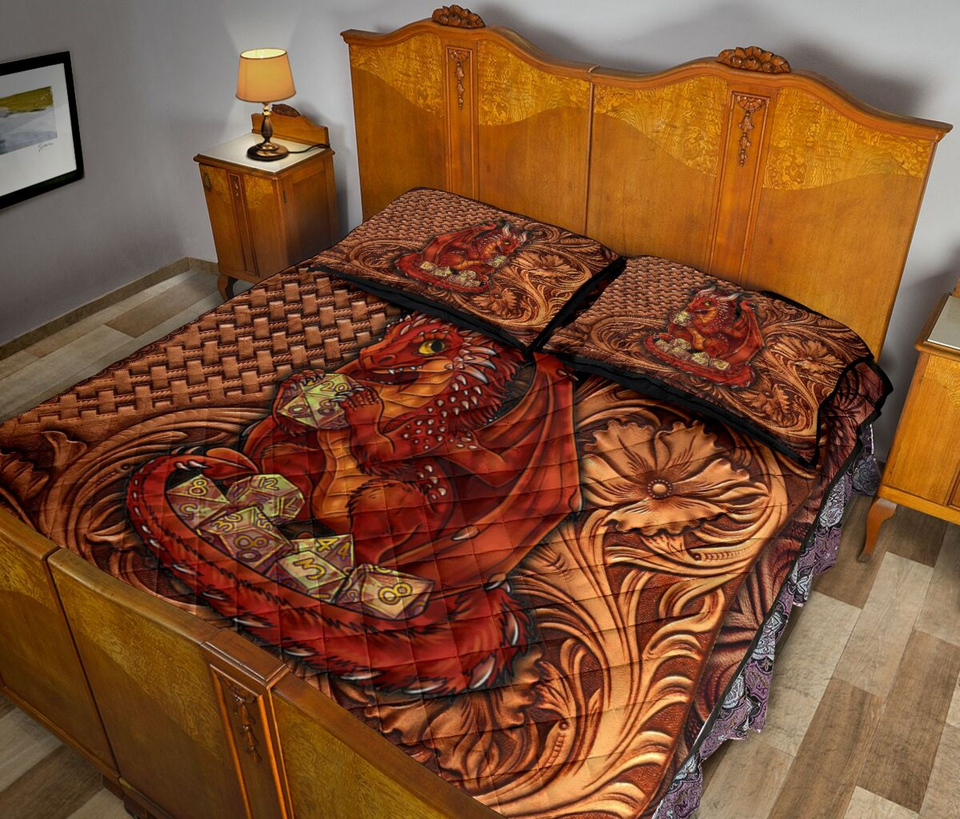 RED DRAGON BED SET