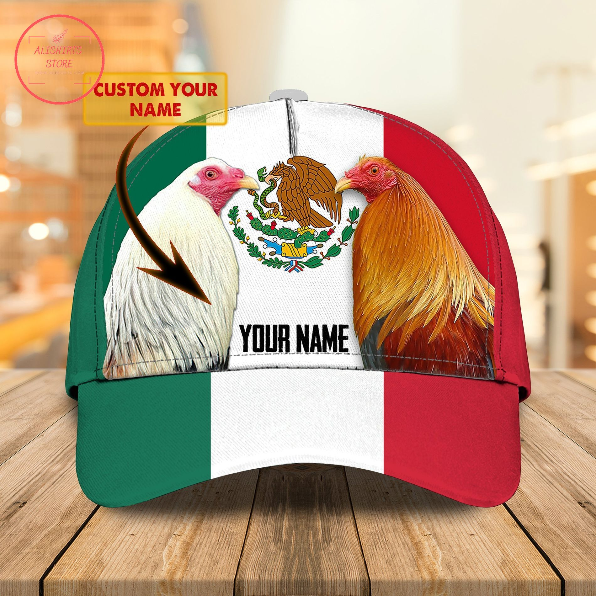 Rooster hat name personalized