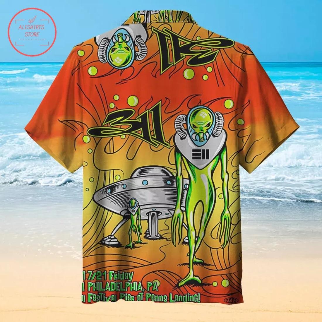 311 Music Poster Hawaiian Shirt
