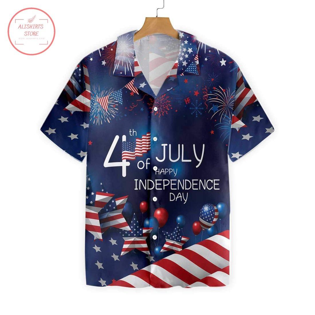 4th July US Independence Day Flag Hawaiian Shirt