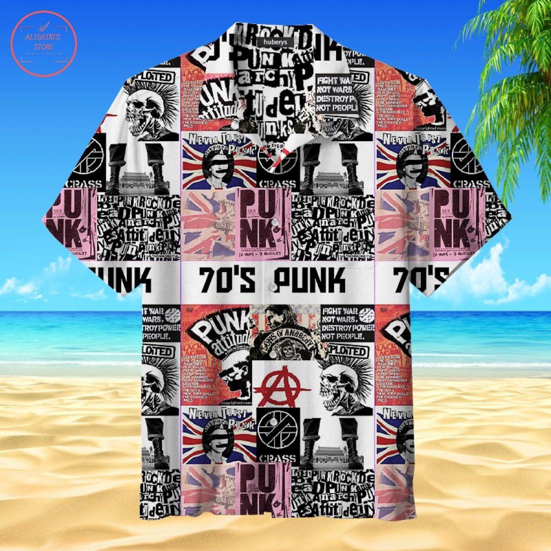 70s Punk Rock Hawaiian Shirt