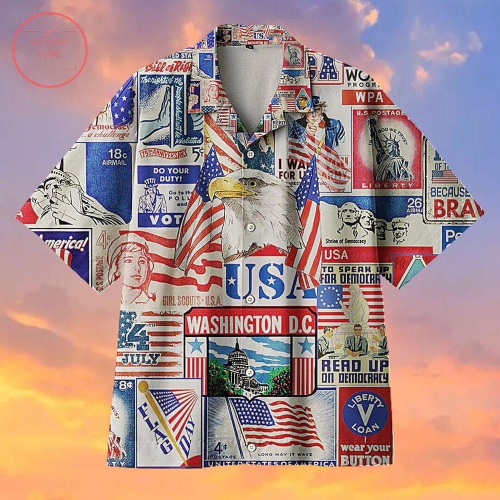 A cheerful holiday celebrating Independence Day Hawaiian Shirt