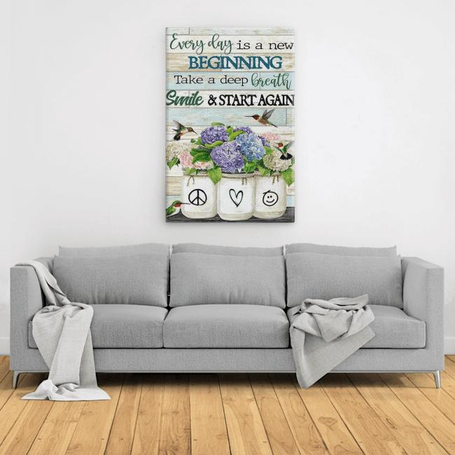 Sunflowers & Hummingbirds And Start Again Canvas