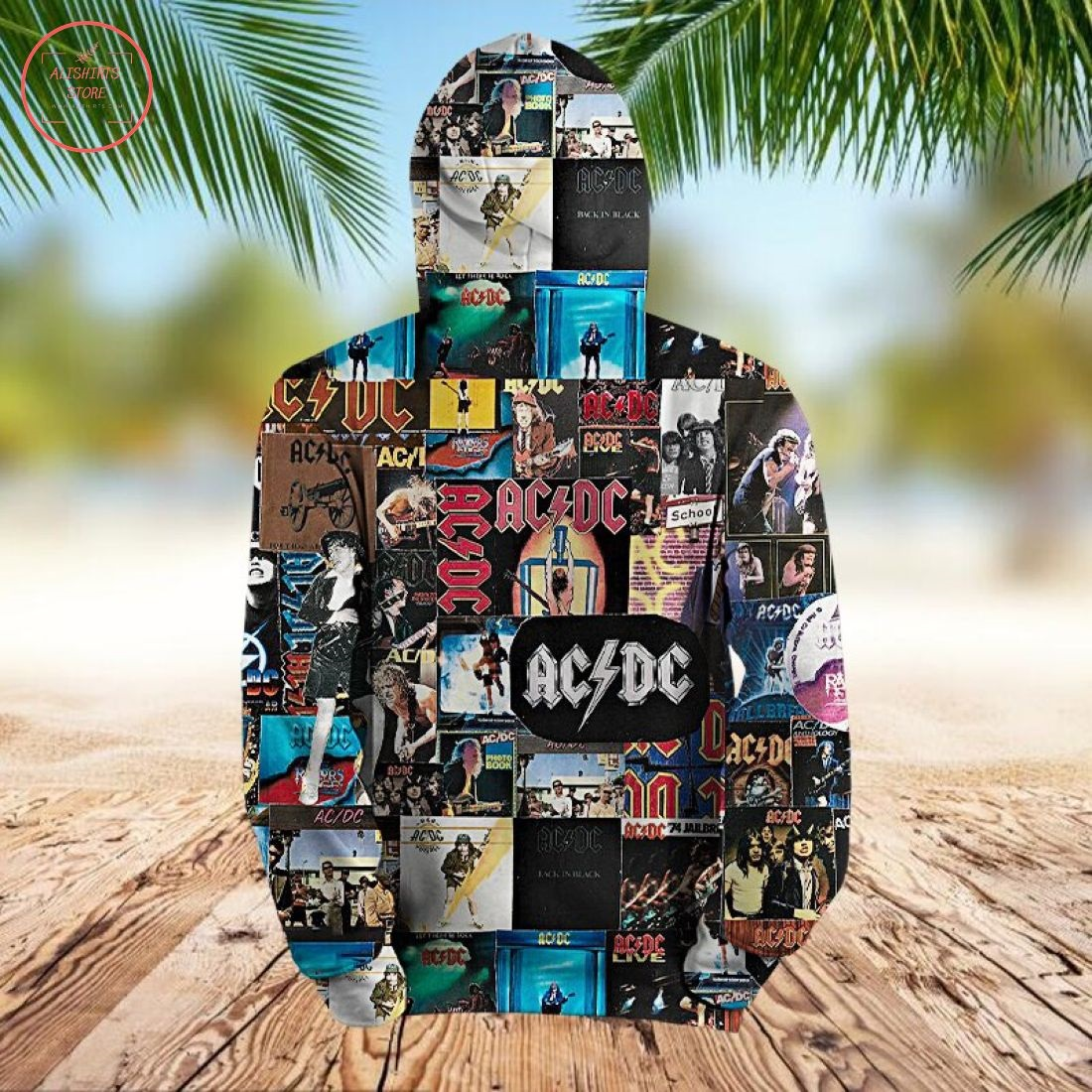 AC DC Collage 3D Hoodie
