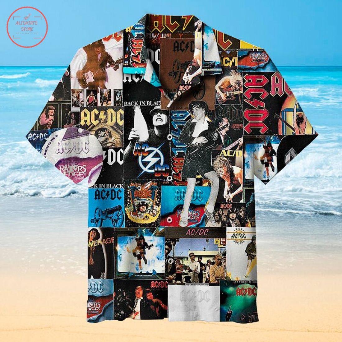 AC DC Collage Hawaiian Shirt