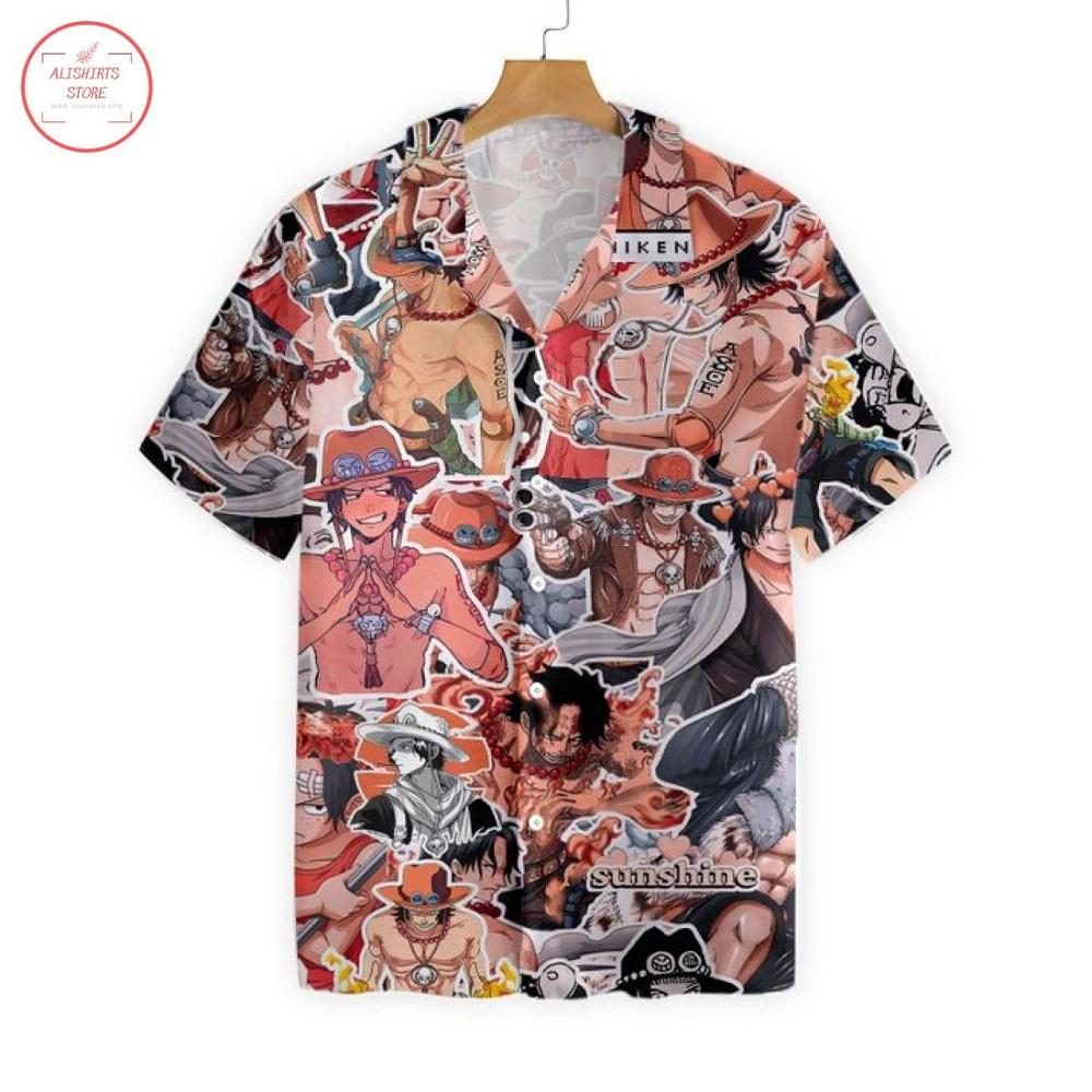 Ace One Piece Hawaiian Shirt