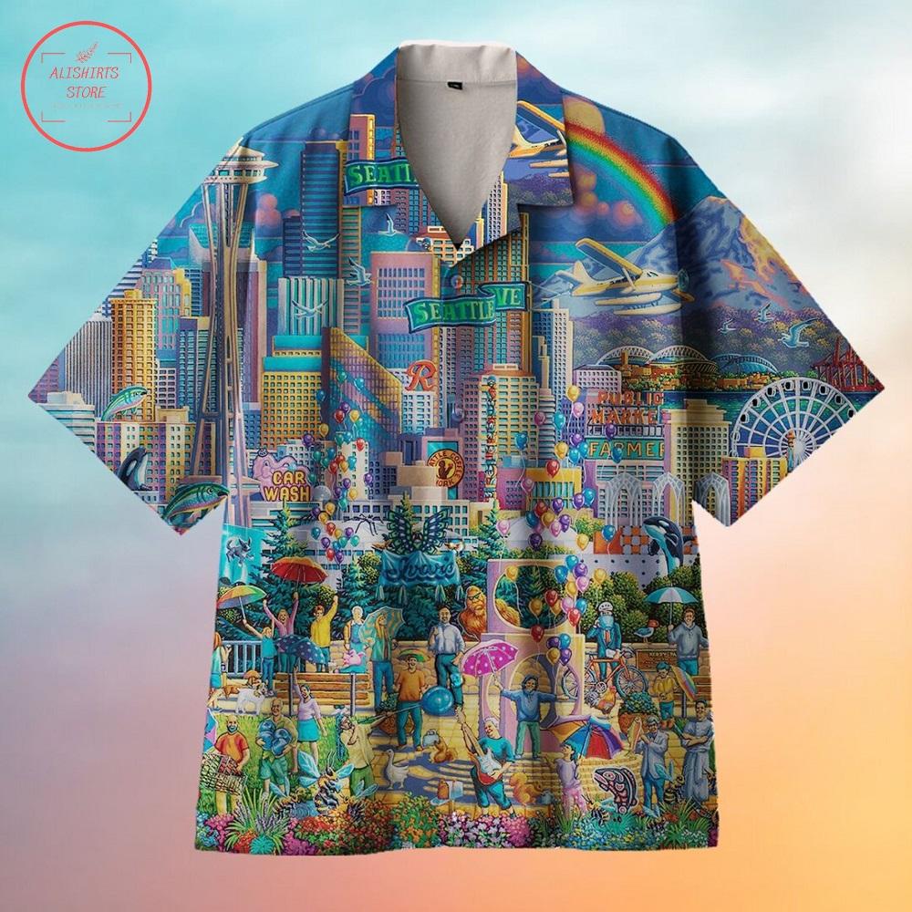 Amazing Seattle City Hawaiian Shirt