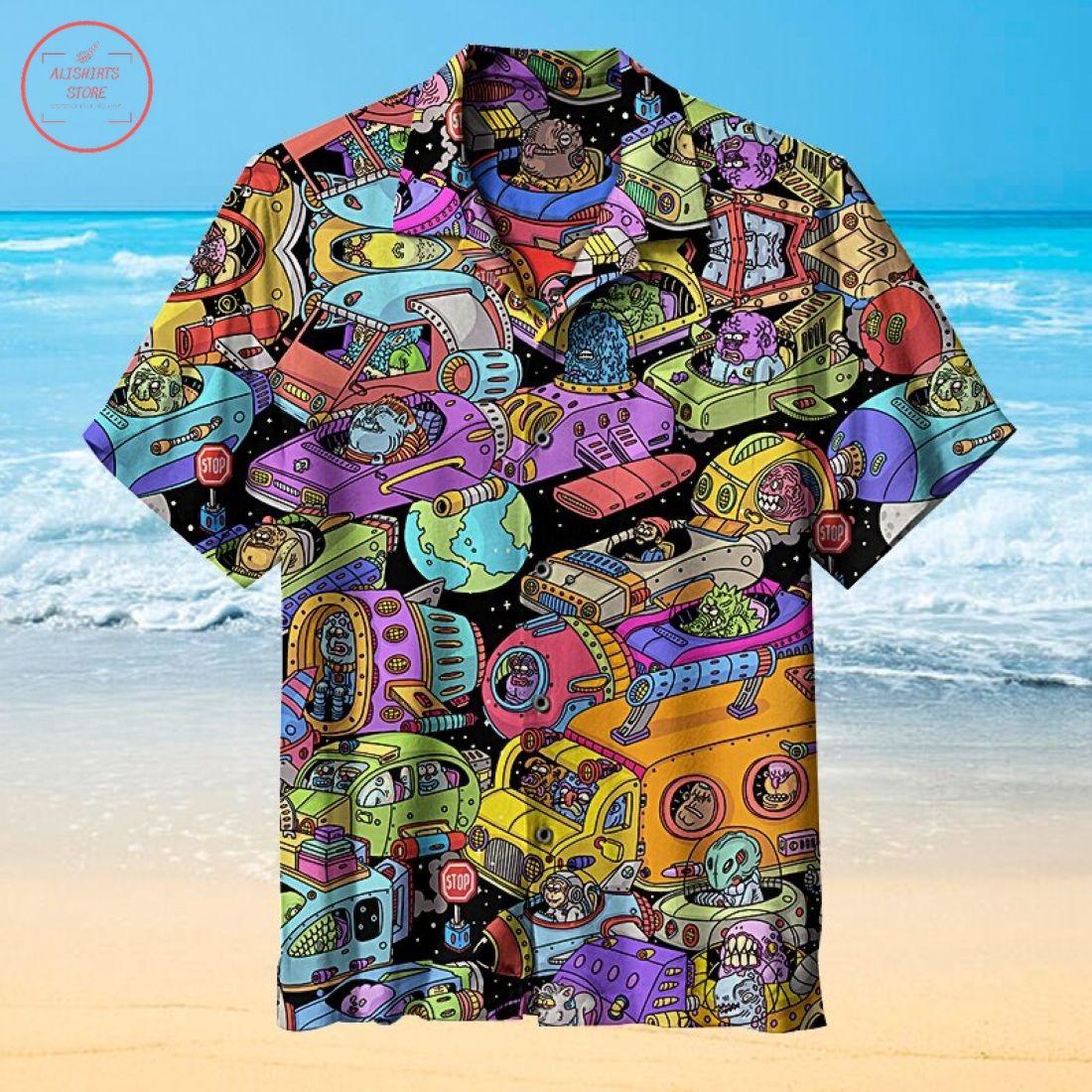 Amazing outer space traffic Hawaiian Shirt