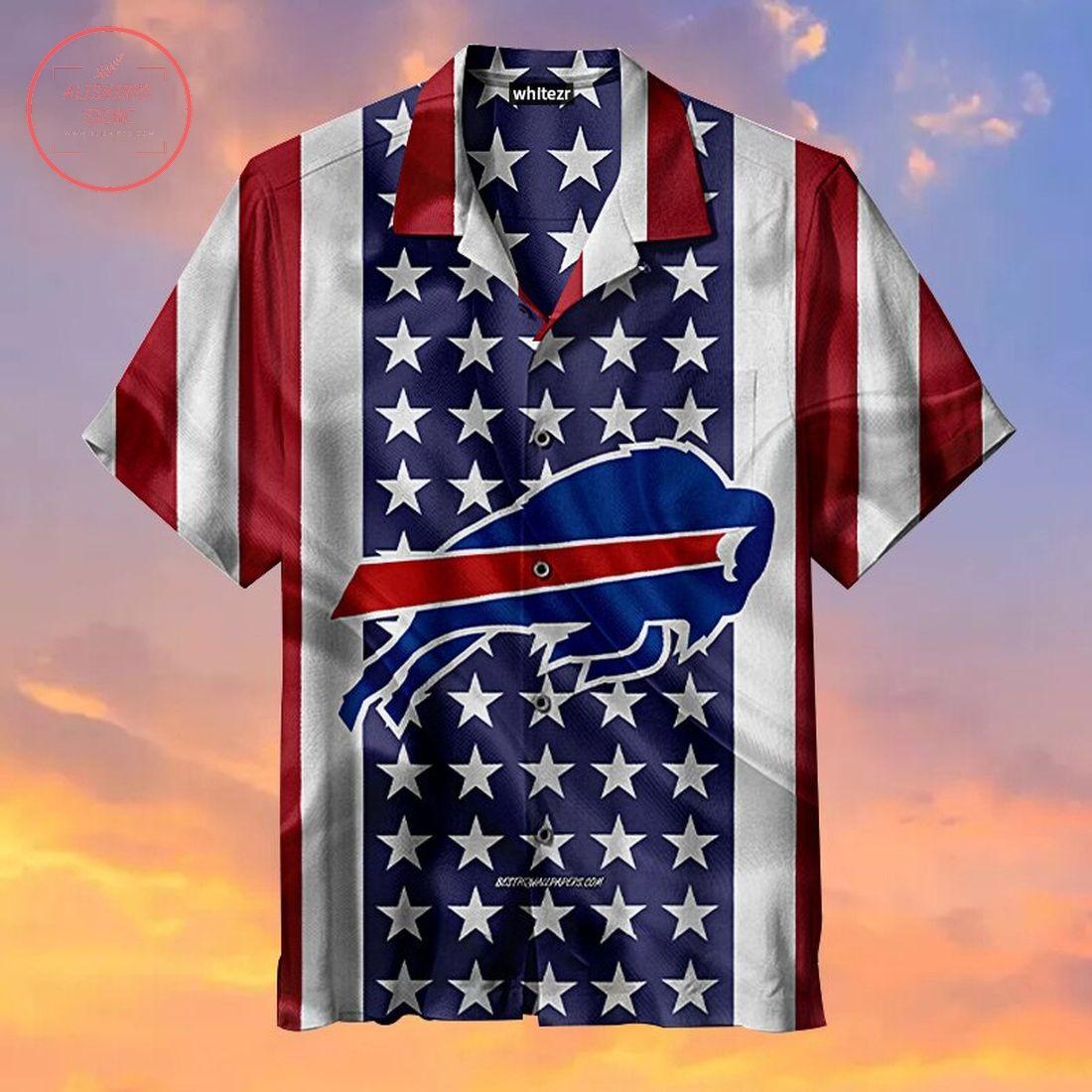 American Flag Buffalo Bills Hawaiian Shirt