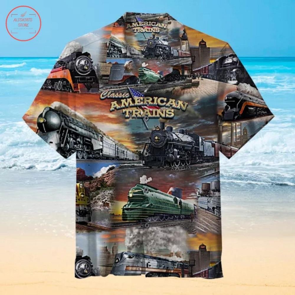 American train Hawaiian Shirt