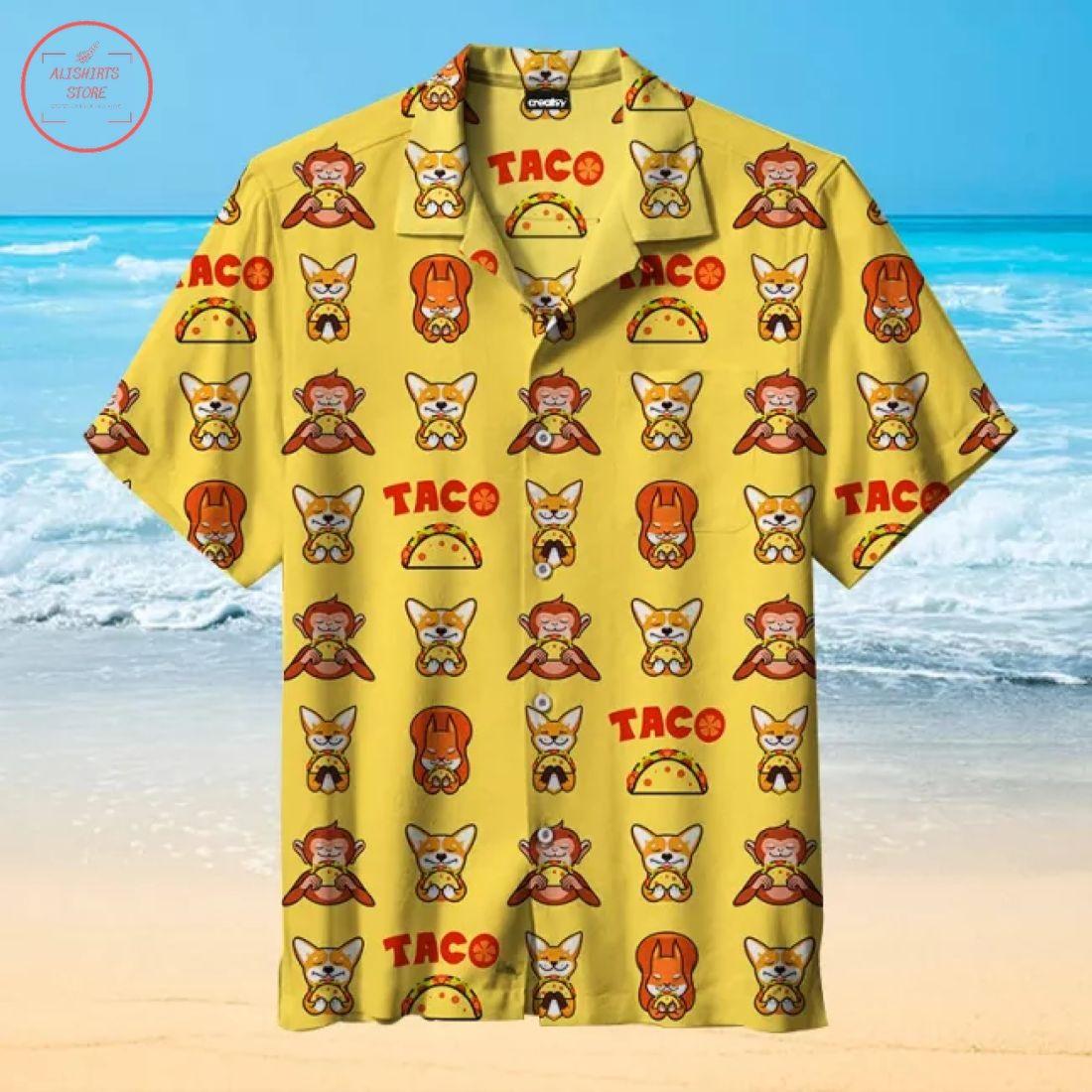 Animals love taco Hawaiian Shirt
