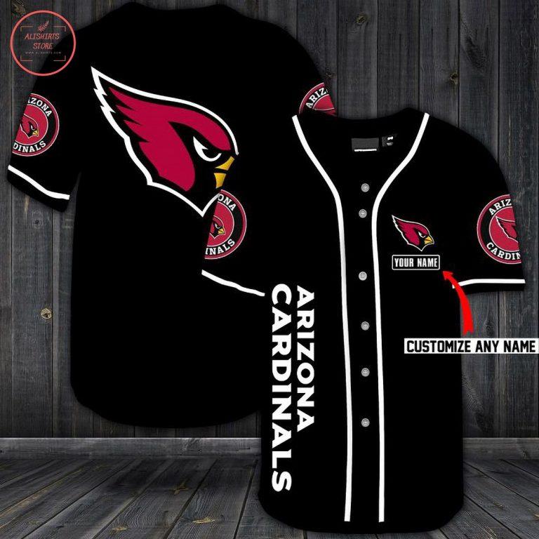 Arizona Cardinals Personalized Custom Baseball Jersey