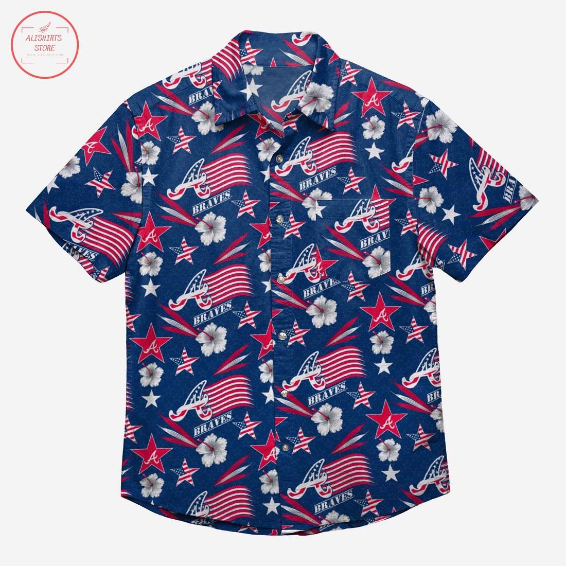 Atlanta Braves Americana Hawaiian shirt