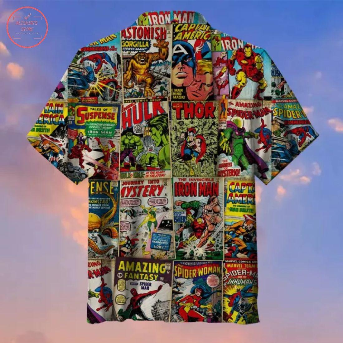 Avengers Comics Cover Hawaiian Shirt