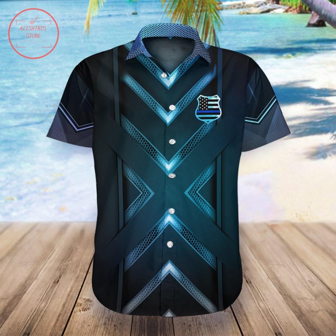 Back The Blue Hawaii Shirt