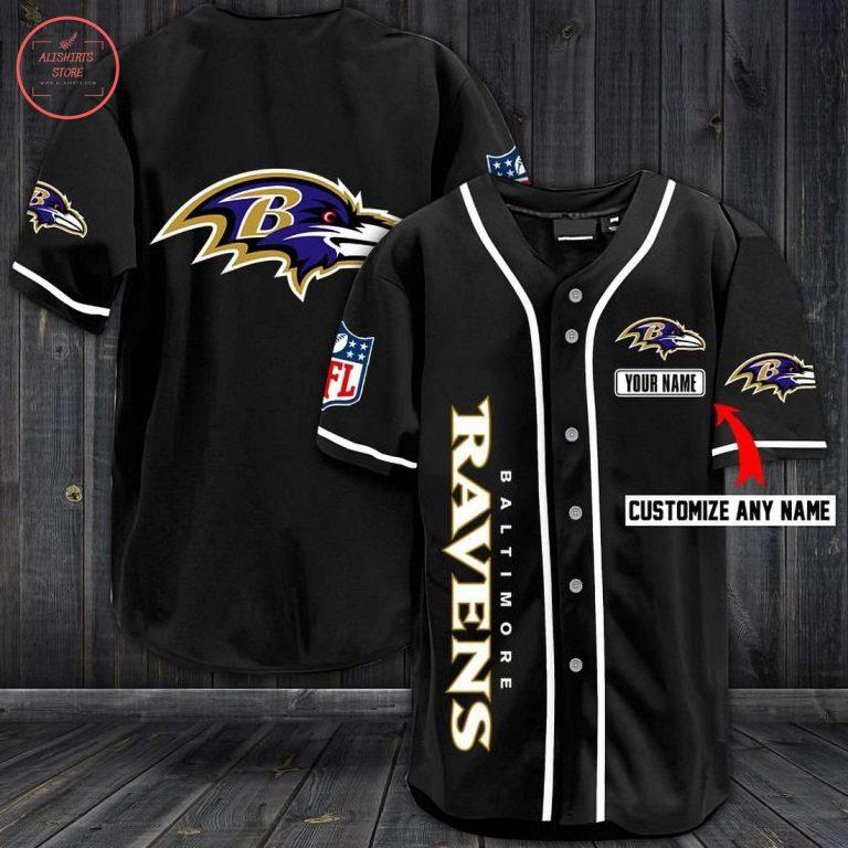 Baltimore Ravens Personalized Baseball Jersey