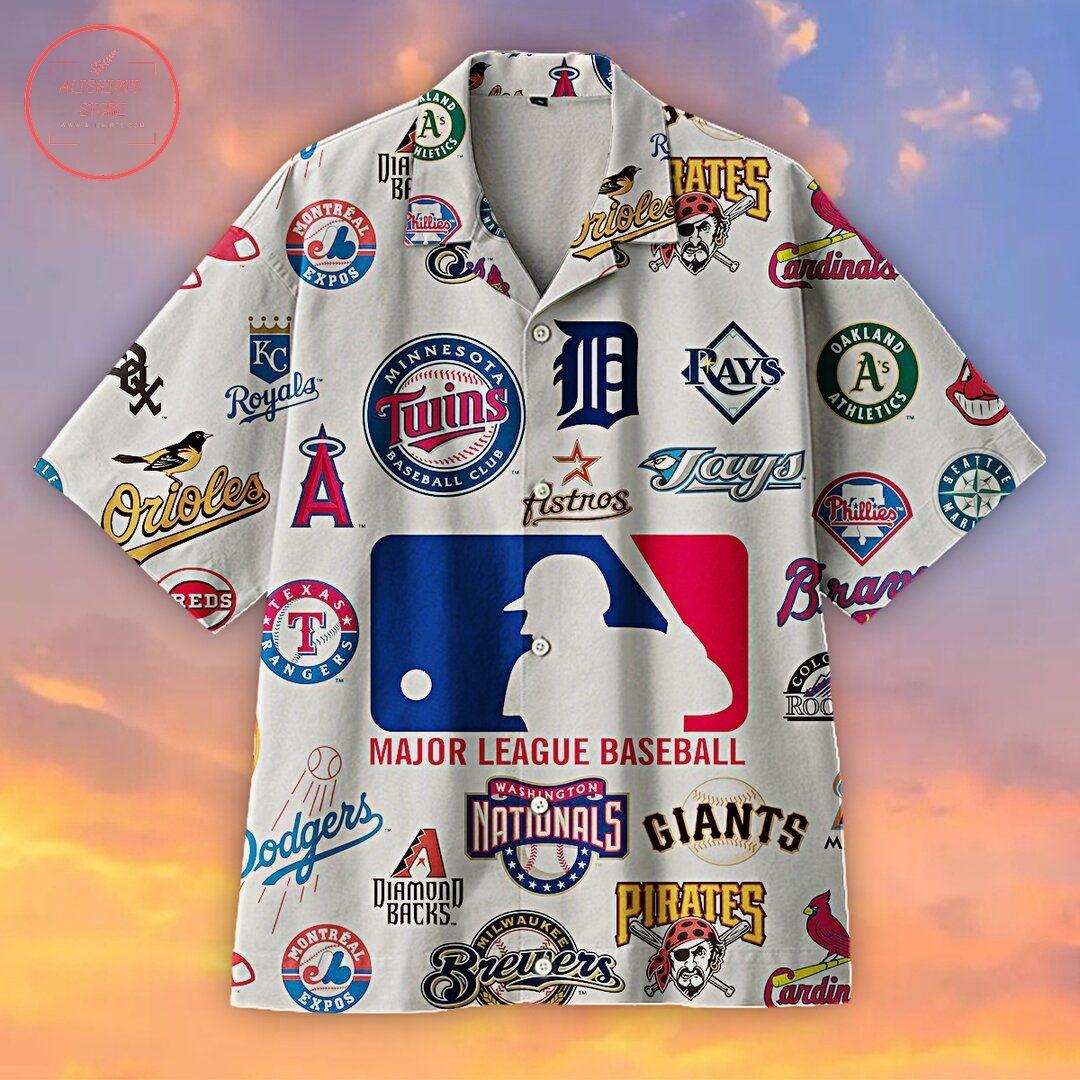 Baseball Mlb Logo Hawaiian Shirt