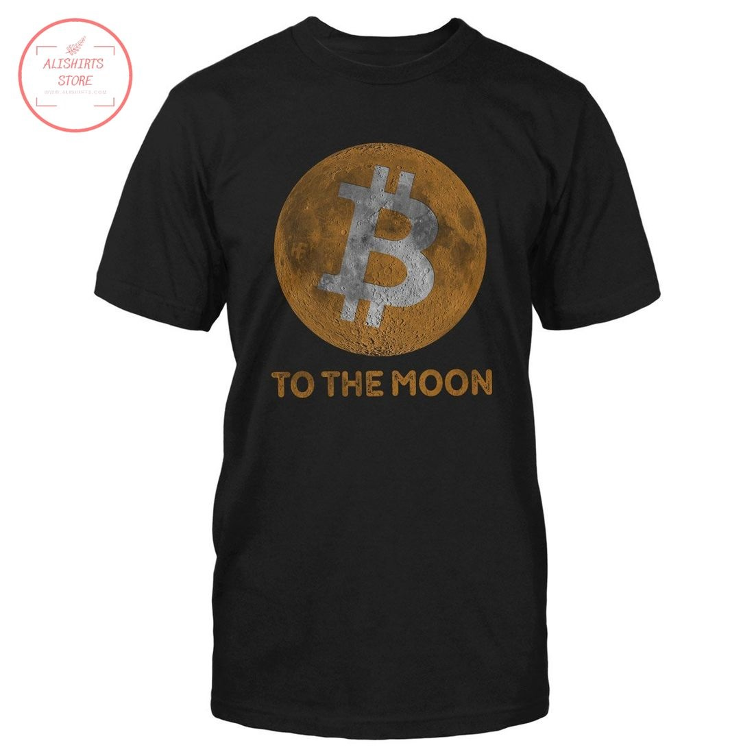 Bitcoin To The Moon Cryptocurrency Shirt