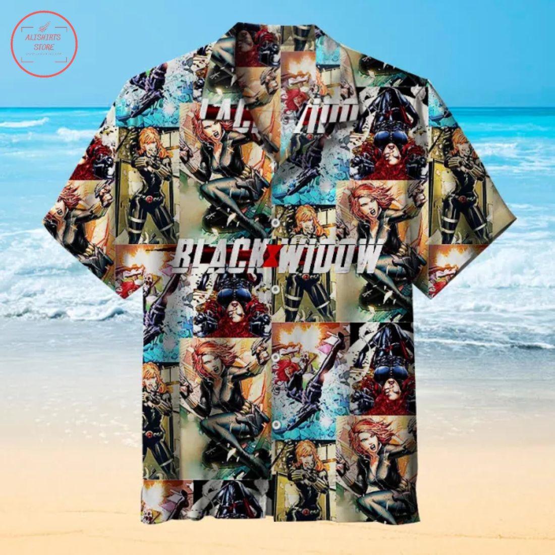 Black Widow Comics Hawaiian Shirt
