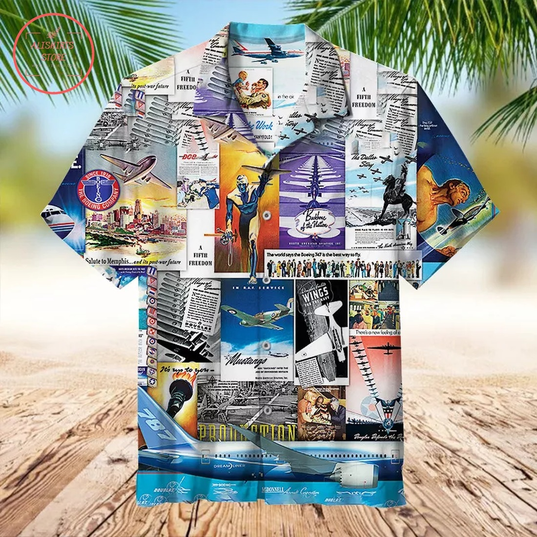 Boeing Advertising Collection Hawaiian Shirt