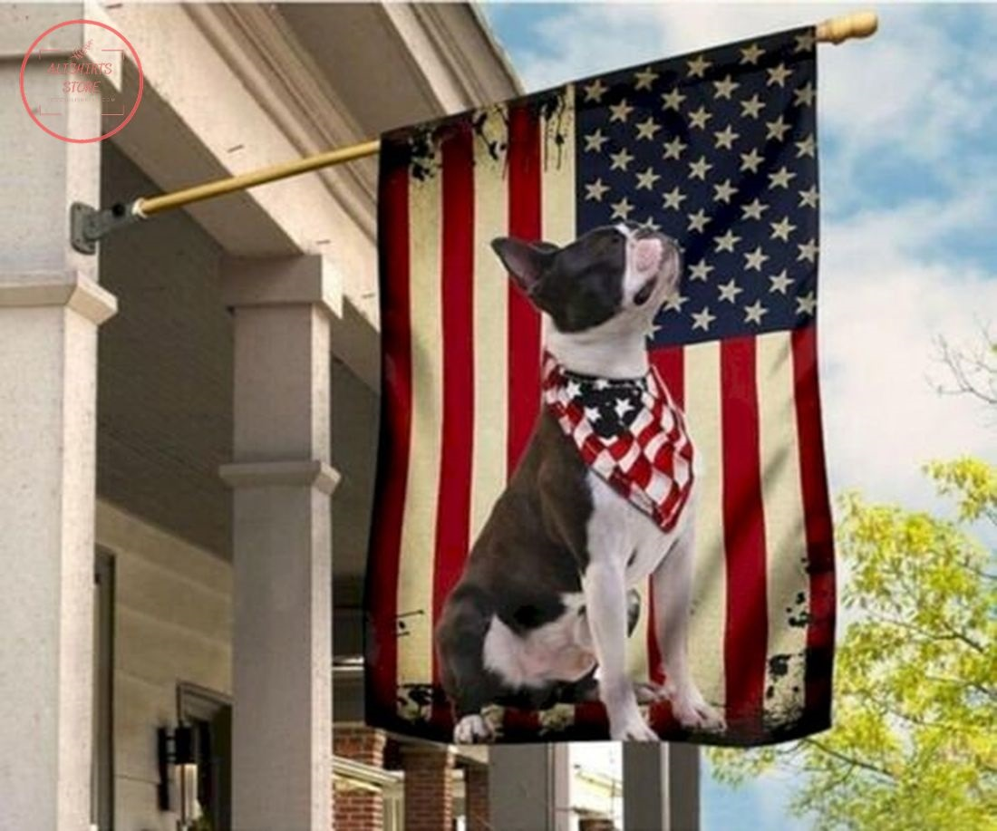 Boston Terrier Independence Day American Flag