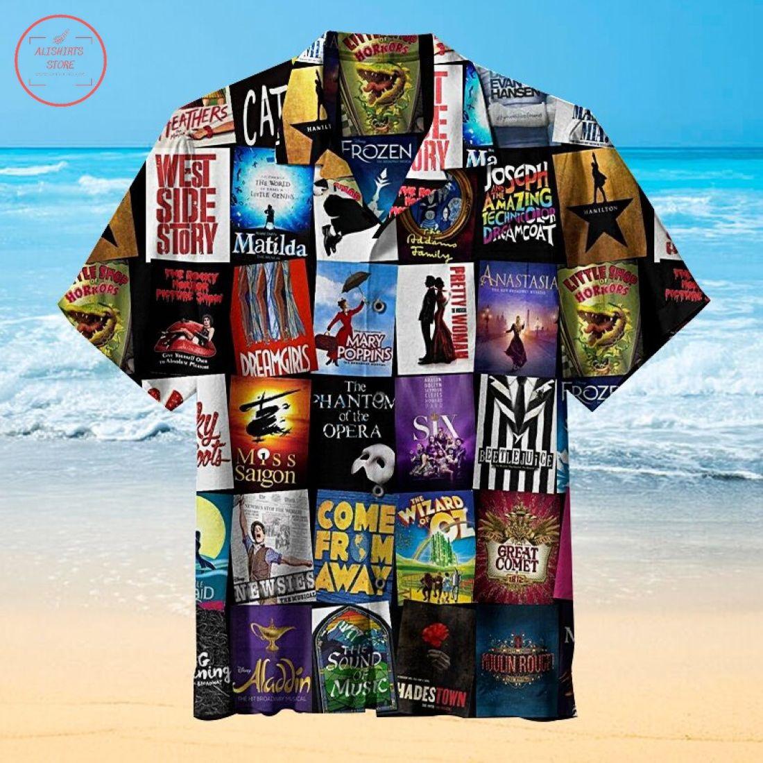 Broadway Musical Theater Hawaiian Shirt