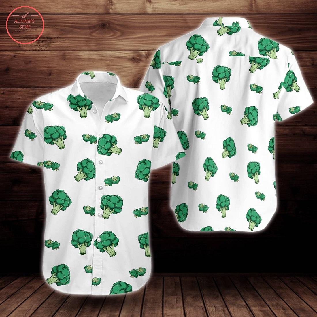 Broccoli Pattern Print Design Flower Hawaiian shirt