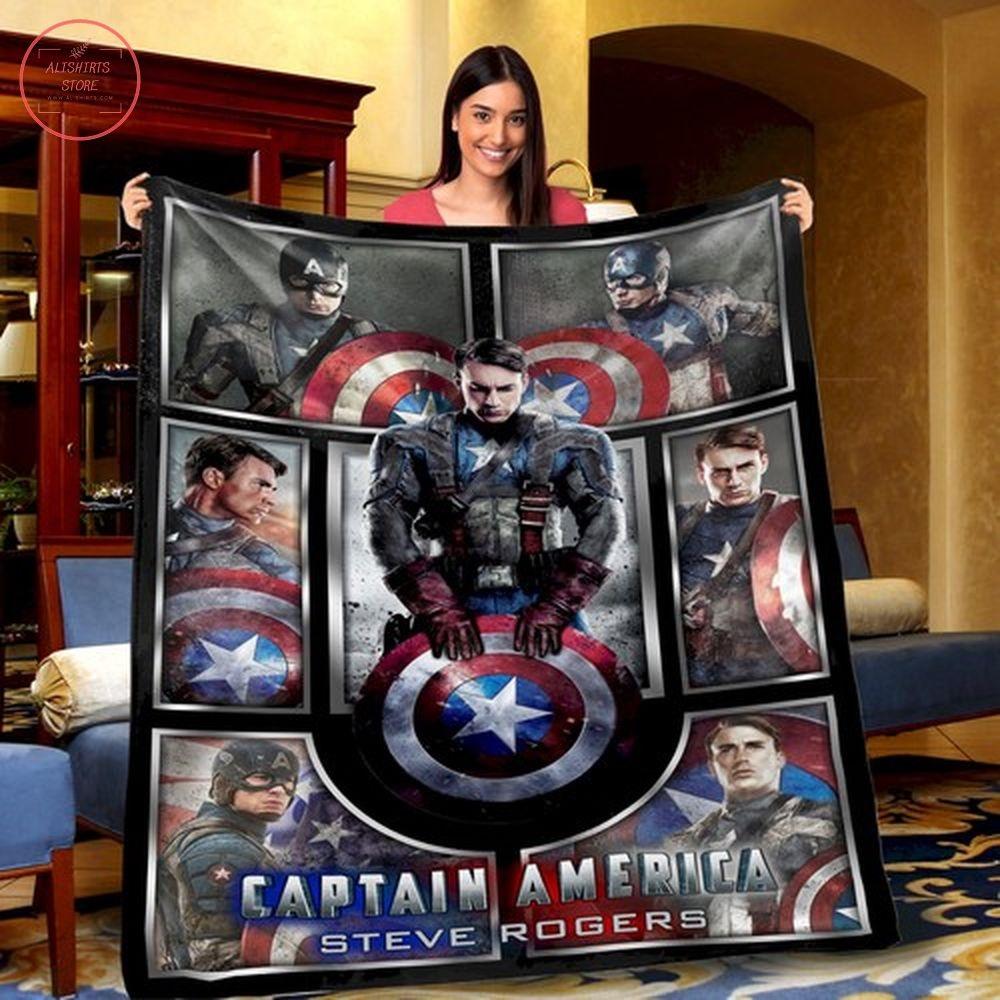 Captain America Avengers Superhero Fleece Blanket