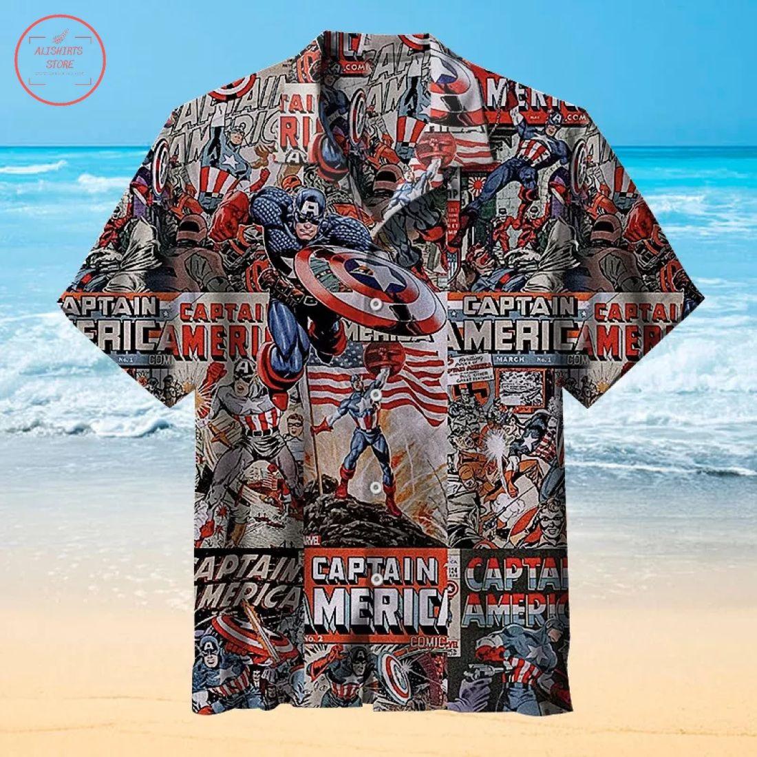 Captain America Hawaiian Shirt