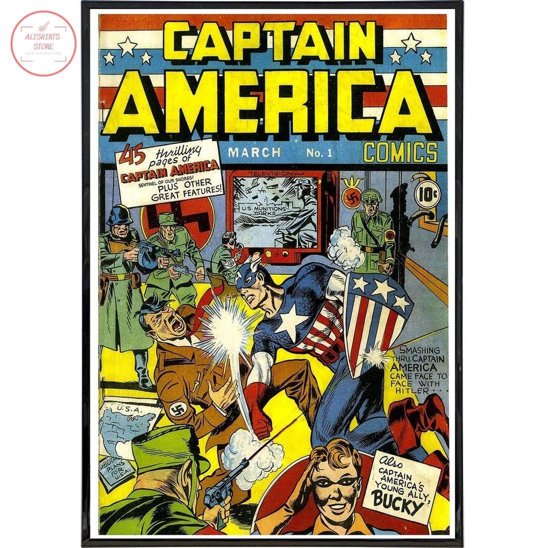 Captain America No.1 Comic Canvas Wall