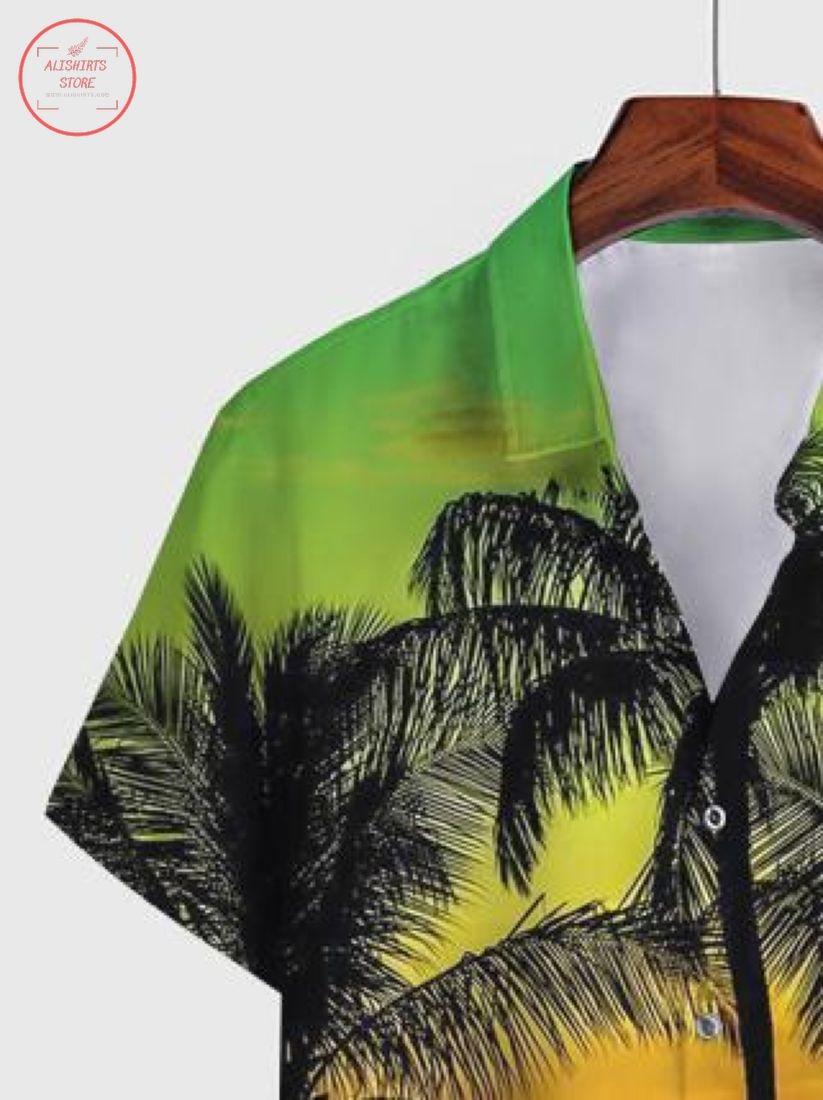 Casual Abstract Cotton-Blend Hawaiian Shirt