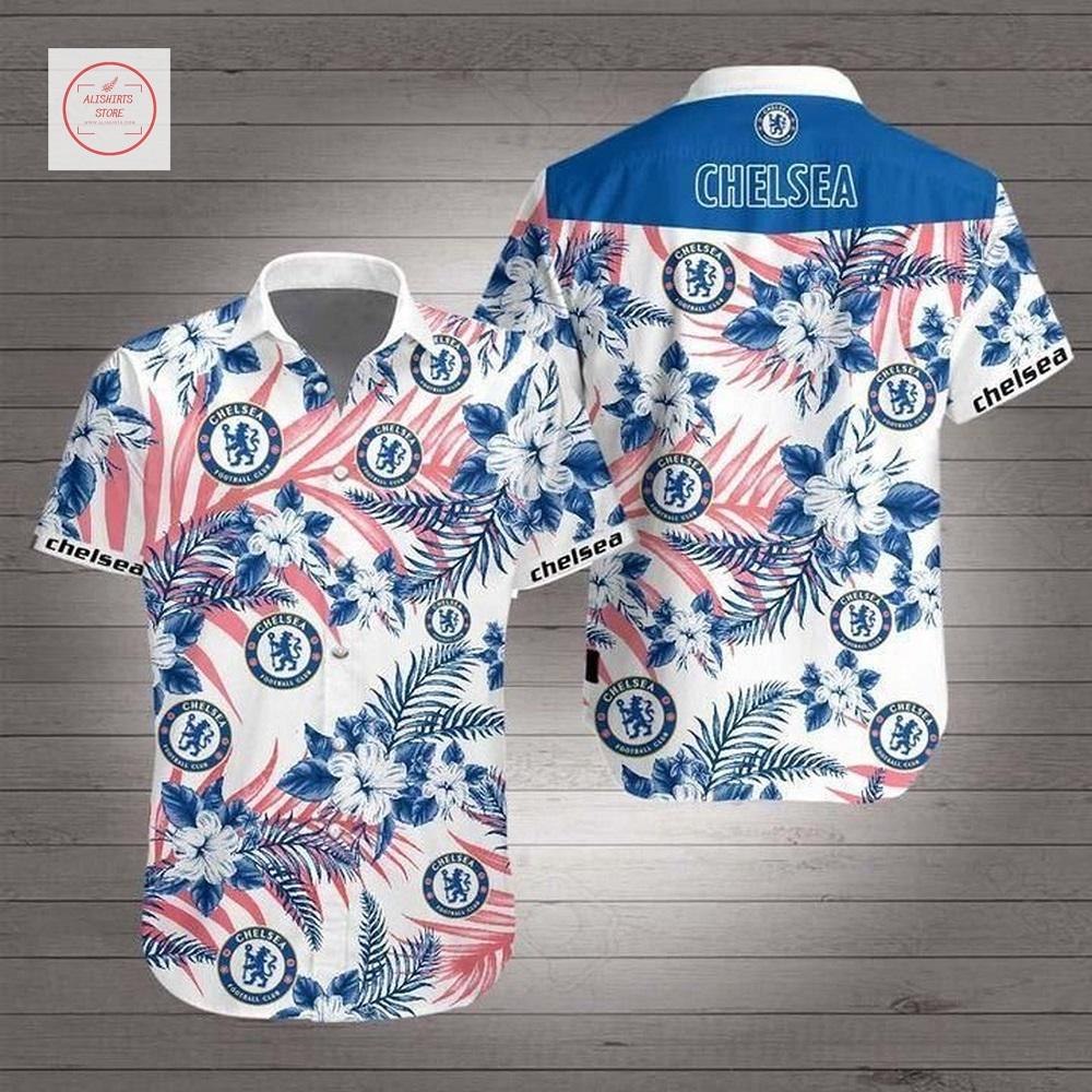 Chelsea FC Short Sleeve Hawaii Shirt